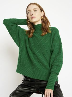 Cocoa Cashmere Holly Forest Green Jumper