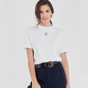 Maison Labiche Oversized Sorry Not Sorry Tee - White