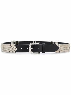 ISABEL MARANT WOMEN'S CE011900M112A01BK BLACK LEATHER BELT