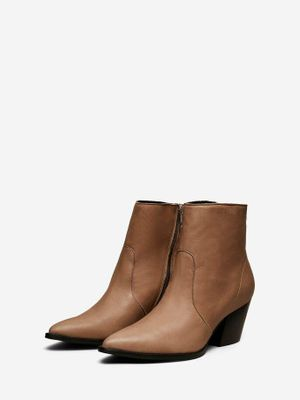 Selected Femme - Tigers Eye Leather Boots