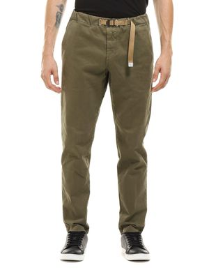 Pants with elastic waist strap and pockets on the front