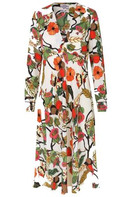 Aericka Dress - Cream Floral Bran  SUSTAINABLE