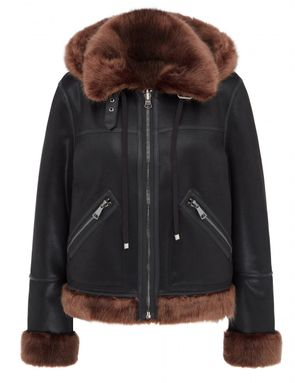 Urban Code Ede Reversible Faux Fur Biker Jacket Colour: Black Chocolat