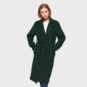 SELFHOOD | Milla Wool Coat | Emerald Green