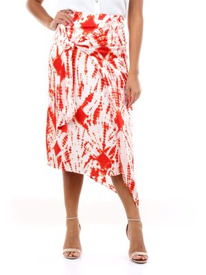 ESSENTIEL ANTWERP Skirts Long Women White and red