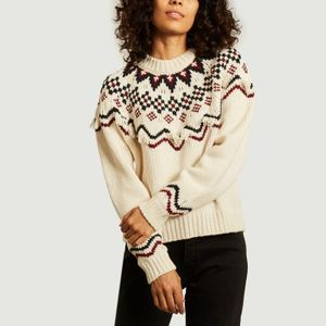 FAIRISLE SWEATER IVORY MULTI CO Maison Labiche Paris