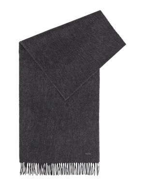 Boss Heroso Plain Wool Scarf Colour: Black
