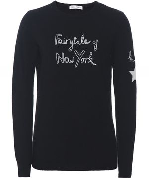 Bella Freud X Kate Moss Fairytale of New York Jumper Colour: Black