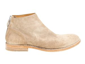 MOMA MEN'S 14803 BEIGE SUEDE ANKLE BOOTS