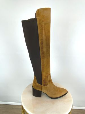 Alpe Over The Knee Suede Boots Tan