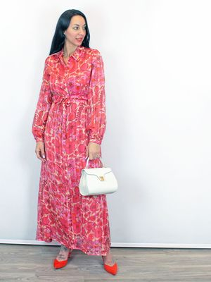 Fabienne Chapot Frieda Long Dress Floral Pink