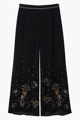 Lily and Lionel Mystic Palm Embroidered Luna Trouser