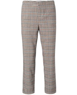 Yaya Brown Checked Trousers