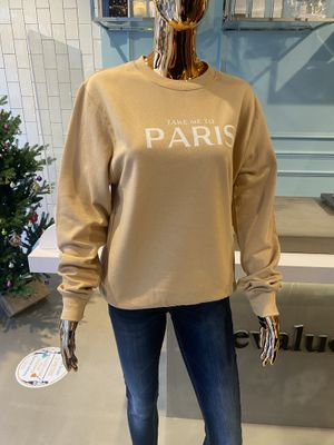 EvaLucia- nude Take me to Paris Sweatshirt