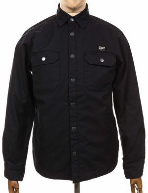 Deus Ex Machina Maxwell Padded Overshirt - Black Size: Small, Colour: