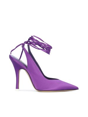 ATTICO WOMEN'S 192WS032V015012 PURPLE VISCOSE PUMPS
