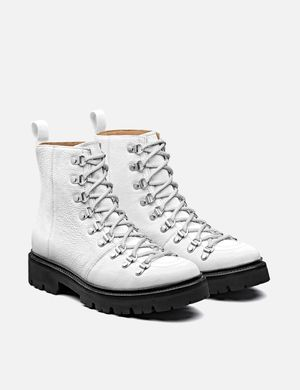 Womens Grenson Nanette Hiker Boots (Softie Leather) - White/Black Sole