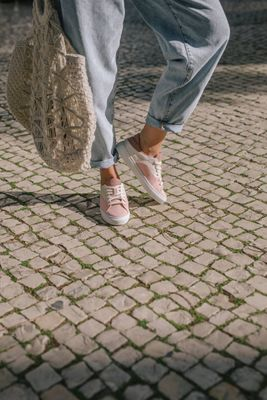 After Pale Pink Sneakers Surf