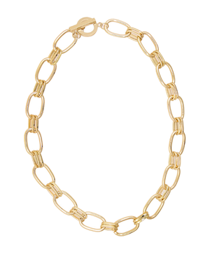 Twin Loop Bar Chain Necklace