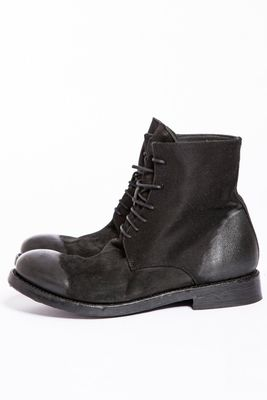 Hannes Roether x Last Conspiracy Fabric/Leather Boots Black Colour: Bl