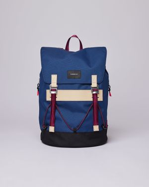 Sandqvist Johannes Bag - Evening Blue with Natural Leather
