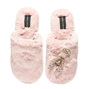 Laines of London Pink with Pink Lobster Slippers Closed Toe