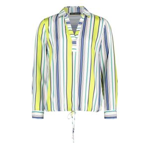 Blue Green Striped Blouse