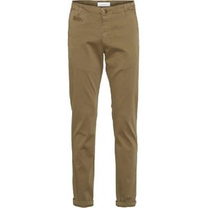 KnowledgeCotton Apparel Chuck Regular Stretched Chino Pant Olive - GOTS/Vegan