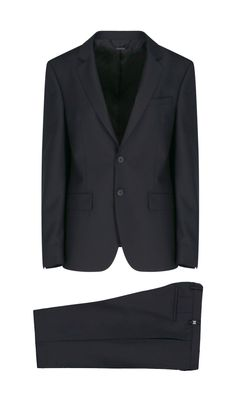 GIVENCHY MEN'S BM102B100H001 BLACK WOOL SUIT