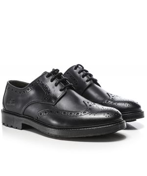 Barbour Leather Ouse Brogues Colour: Black