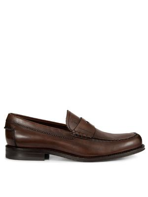 TOD'S MEN'S XXM0RO00640D9CS801 BROWN LEATHER LOAFERS