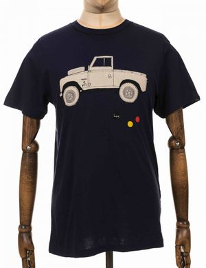 Deus Ex Machina Carby Landie Tee - Navy Size: Small, Colour: Navy