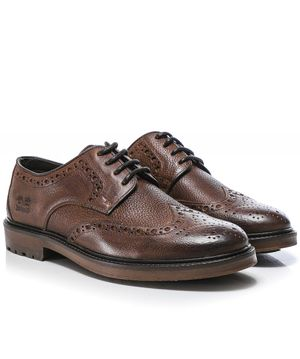 Barbour Leather Ouse Brogues Colour: Brown