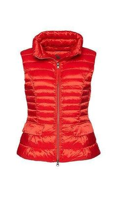 Marc Cain Essentials Quilted Gilet with Down 272 Scarlet +E 37.15 W11