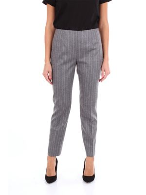 Les Copains classic gray pinstripe business trousers