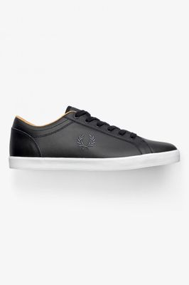 Fred Perry Authentic Baseline Leather Sneaker Black