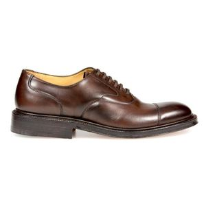 CHURCH'S MEN'S EEB0109XVF0AMA BROWN LEATHER LACE-UP SHOES