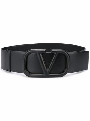 VALENTINO GARAVANI WOMEN'S UW2T0S10YEE0NO BLACK LEATHER BELT