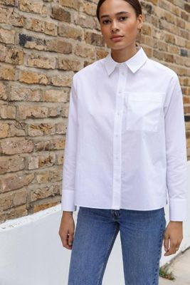 Wrap Back Poplin Shirt