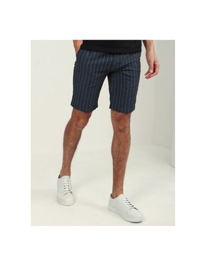 Sseinse Bermuda Linen Shorts Colour: Navy