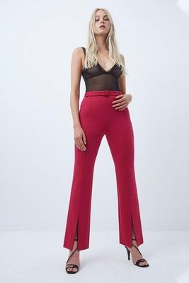 French Connection Alia Whisper High Waist Trousers - pink cerise