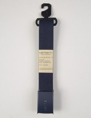Carhartt WIP Clip Belt Tonal - Dark Navy Colour: Dark Navy