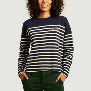 Cool oh là là long sleeves sailor t-shirt Midnight blue ivory Maison Labiche Paris