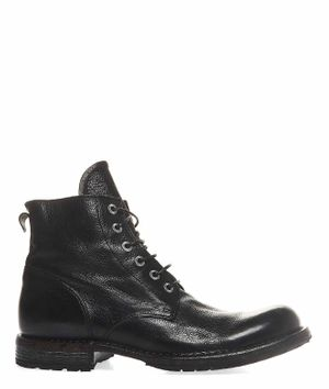 MOMA MEN'S 2CW007CUNERO BLACK ANKLE BOOTS