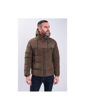 Sseinse Panel Puffer Coat Colour: Khaki