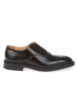 CHURCH'S MEN'S LANCASTERPOLISHEDBLACK BLACK LEATHER LACE-UP SHOES