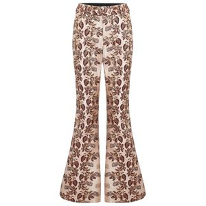 Smythe Brocade Bootcut Pant in Bordeaux