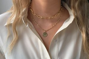 BOHO BETTY Beira chain layered necklace GOLD