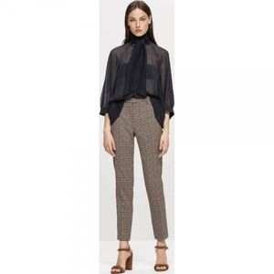 Luisa Cerano Houndstooth Checked Trousers  628211/2468