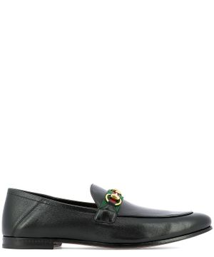 GUCCI MEN'S 581513DLCC01078 BLACK LEATHER LOAFERS